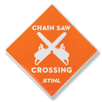 Chain Saw Crossing Sign