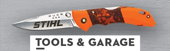 Stihl branded tools and garage gear